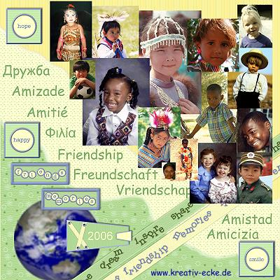 Collage Kinder der Welt